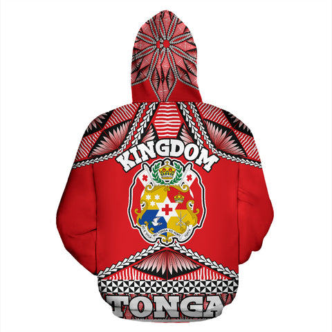 Image of Tonga Polynesian All Over Hoodie - Coat of Arms - BN12