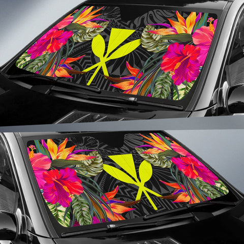 Hawaii Auto Sun Shades - Hibiscus Pattern - BN39
