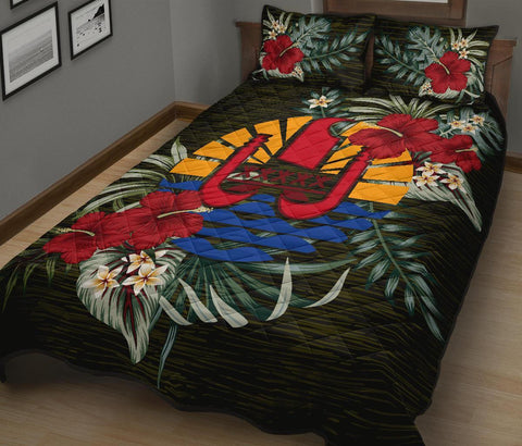 Tahiti Polynesian Quilt Bed Set - Special Hibiscus A7