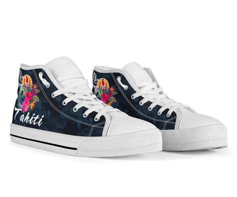Tahiti Polynesian High Top Shoe - Tropical Flower - BN12