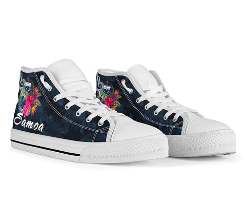 Samoa Polynesian High Top Shoe - Tropical Flowers - BN12