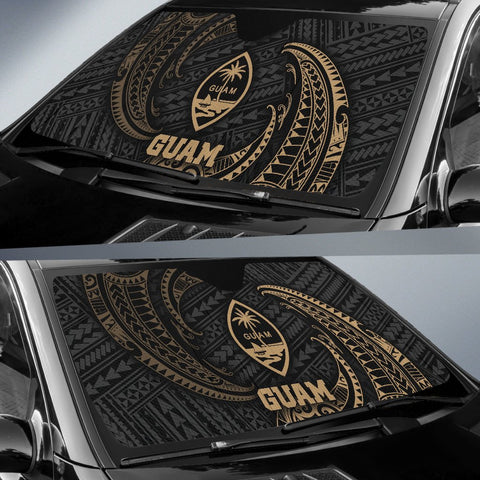 Image of Guam Polynesian Sun Shades - Gold Tribal Wave - BN12