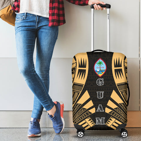 Guam Luggage Cover - Polynesian Tattoo Gold - BN09
