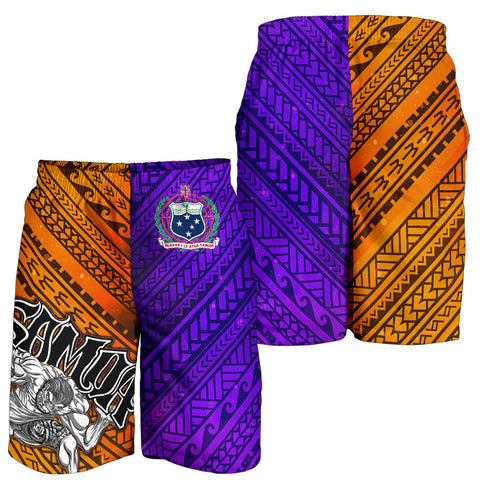 Image of Samoa Men's Shorts - Warrior Style Polynesian Patterns - BN01