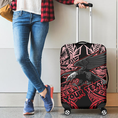 Image of Samoa Polynesian Custom Personalised Luggage Covers - Eagle Tribal Pattern Red - BN12
