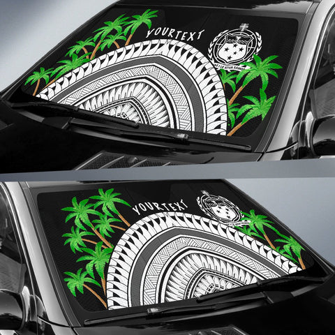 Image of Samoa Custom Personalised Auto Sun Shades - Ginger Lei Pattern - BN20