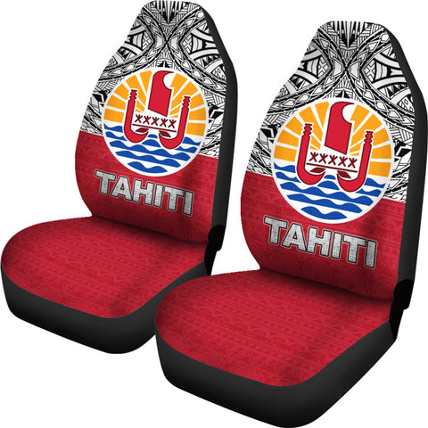 Tahiti Car Seat Covers - Polynesian Design left