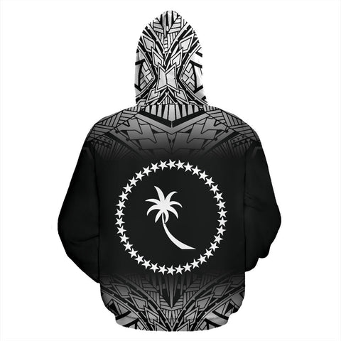 Image of Chuuk All Over Hoodie - Black Fog Style - BN09