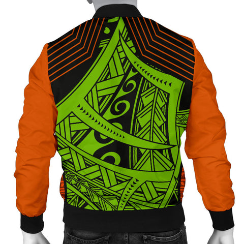 Polynesian Hawaii Men's Bomber Jacket - Tribal Wave - BN12