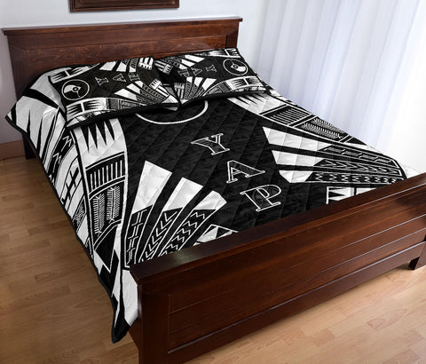 Yap Quilt Bed Set - Black Tattoo Style - BN0112