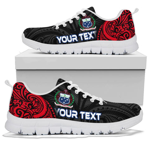 Image of Samoa Polynesian Custom Personalised Sneakers - Samoan Spirit - BN12
