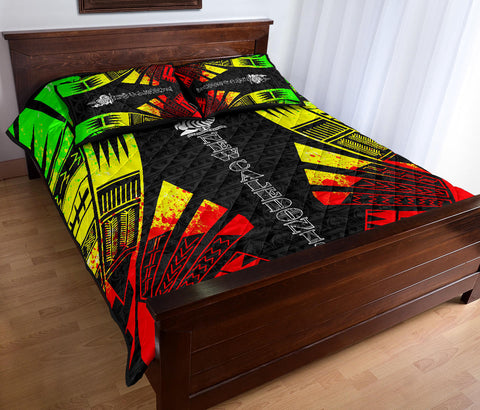 New Caledonia Polynesian Quilt Bed Set - Reggae Tattoo Style - BN0112