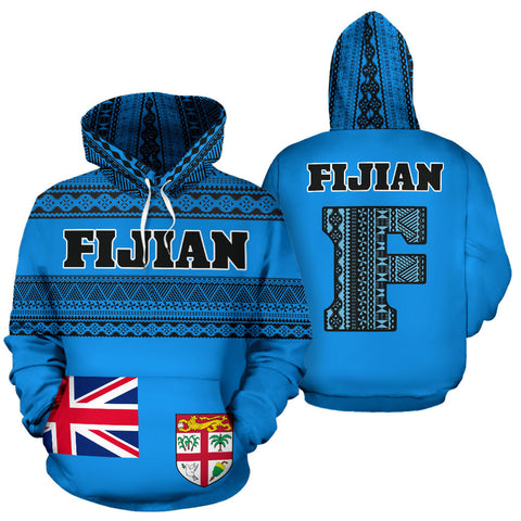 Image of Fijian All Over Hoodie - Tapa Pattern - BN12