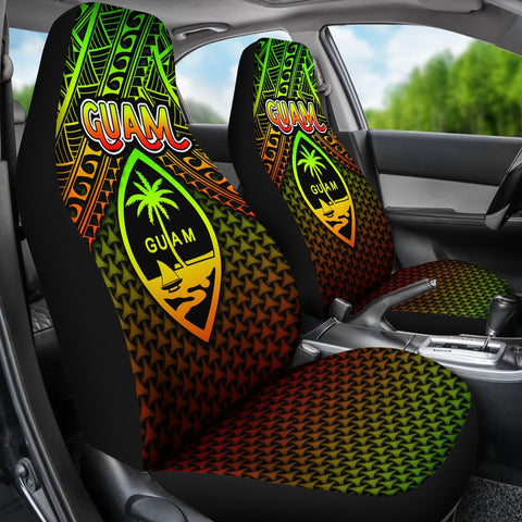 Polynesian Guam Car Seat Covers - Reggae Vintage Polynesian Patterns