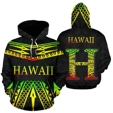 Image of Hawaii Polynesia All Over Hoodie