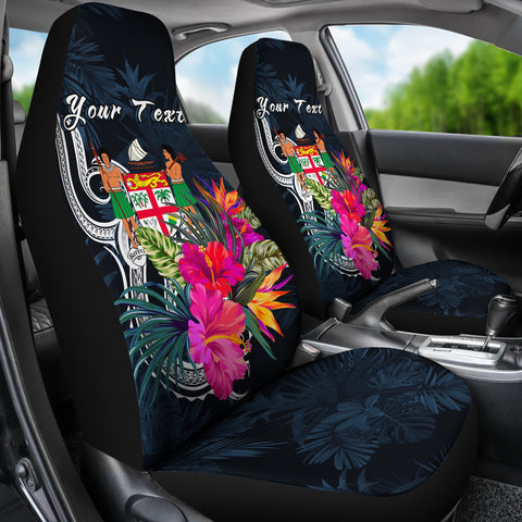 Image of Fiji Polynesian Custom Personalised Car Seat Covers - Tropical Flower - BN12