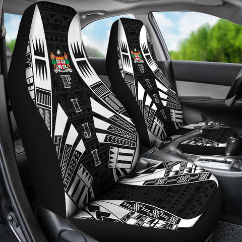 Fiji Car Seat Covers - Polynesian Tattoo Black - BN09