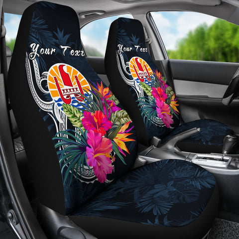 Tahiti Polynesian Custom Personalised Car Seat Covers - Tropical Flower - BN12