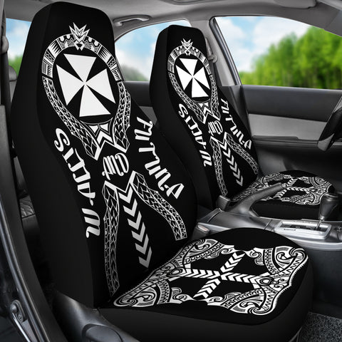 Image of Wallis And Futuna Car Seat Covers - Polynesian Tribal In car Right