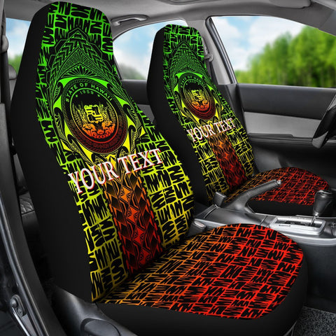 Hawaii Custom Personalised Car Seat Covers -  Hawaii Seal Rocket Style (Reggae)