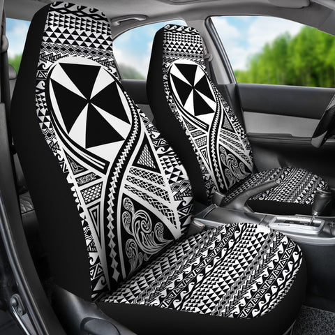 Image of Wallis And Futuna Car Seat Cover Lift Up Black  - BN09