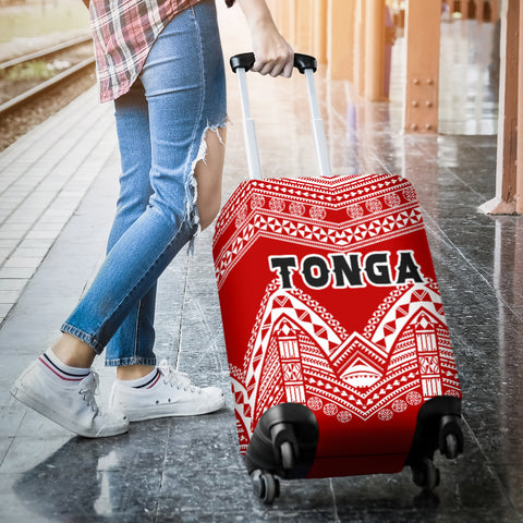 Image of Tonga Polynesian Tribal Pattern Luggage Covers - BN12