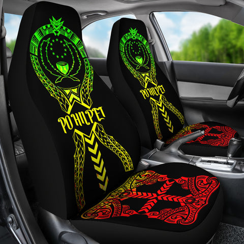 Image of Pohnpei Car Seat Covers - Pohnpei Flag Micronesian Tribal Reggae - BN04