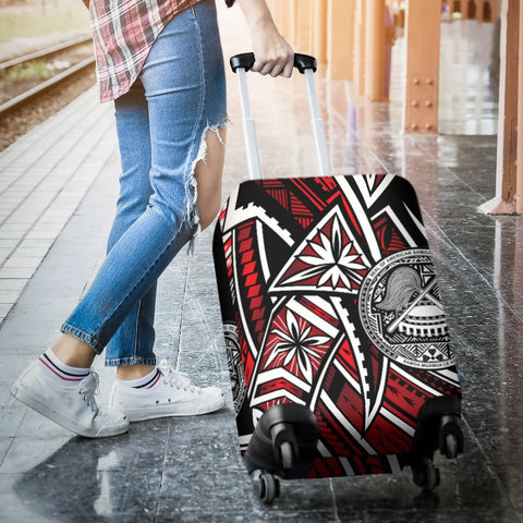 American Samoa Luggage Covers - Tribal Flower Special Pattern Red Color - BN20