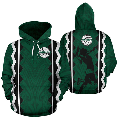 Hawaii Volleyball All Over Hoodie