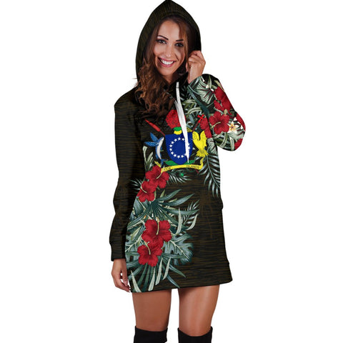 Cook Islands Hibiscus Hoodie Dress A7