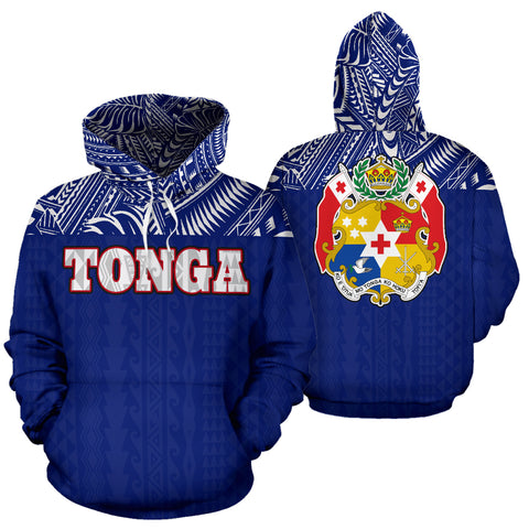 Tonga All Over Hoodie - Polynesian Blue Version