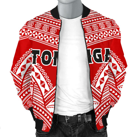 Tonga Polynesian Tribal Pattern Men's Bomber Jacket - BN12
