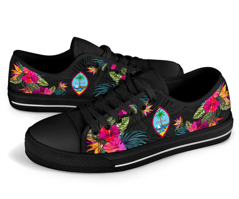 Guam Low Top Shoe - Hibiscus Polynesian Pattern - BN39