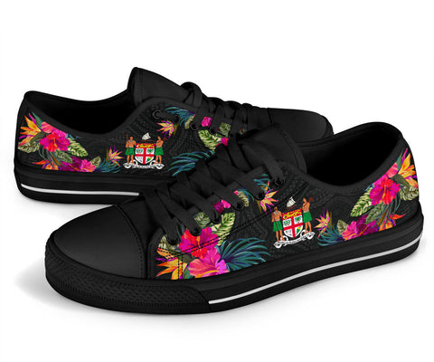 Fiji Low Top Shoe - Hibiscus Polynesian Pattern - BN39