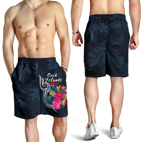 Cook Islands Polynesian Men's Shorts - Tropical Flower