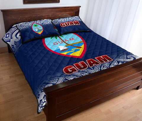 Image of Guam Quilt Bed Set - Fog Style - BN12