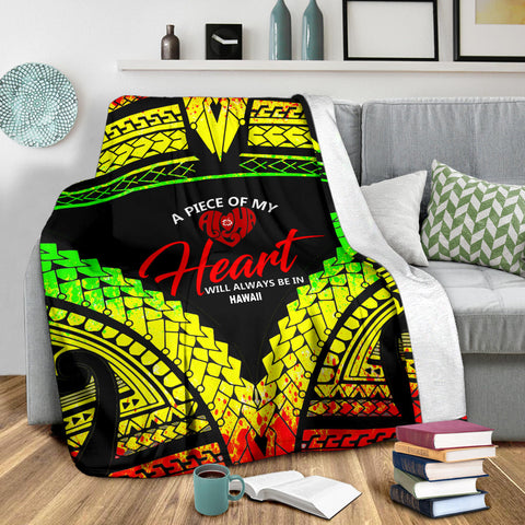 Hawaii Premium Blanket - A Piece Of My Heart - BN20