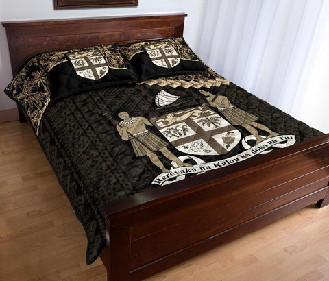 Fiji Polynesian Quilt Bed Set Golden Coconut A02
