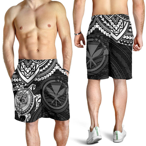 Polynesian Hawaii Short (Men) - White Turtle - BN1518