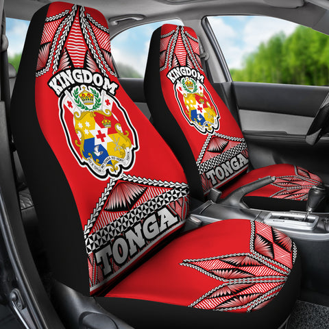 Image of Tonga Polynesian Car Seat Covers - Coat of Arms  - BN12