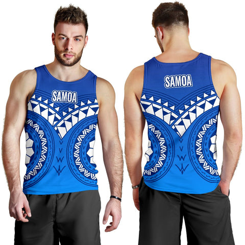 Image of Samoa Polynesian Tribal Pattern Men's Tank Top