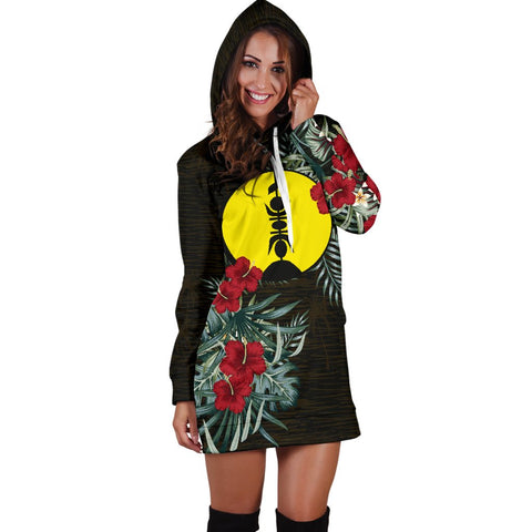 Image of New Caledonia Hibiscus Hoodie Dress A7