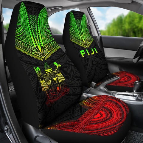 Fiji Polynesian Chief Car Seat Cover - Reggae Version - Bn10