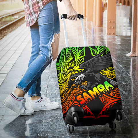 Image of Samoa Polynesian Luggage Covers - Eagle Tribal Pattern Reggae - BN12