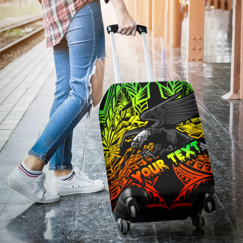 Image of Samoa Polynesian Custom Personalised Luggage Covers - Eagle Tribal Pattern Reggae - BN12