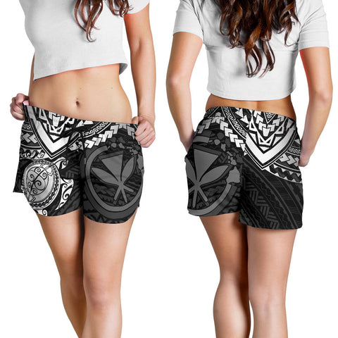 Polynesian Hawaii Short (Women) - White Turtle - BN1518