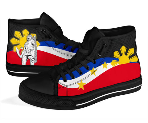 Philippines High Top Shoes - King Lapu-Lapu Polynesian Pattern