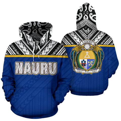 Image of Nauru All Over Hoodie - Polynesian Hoodie Style