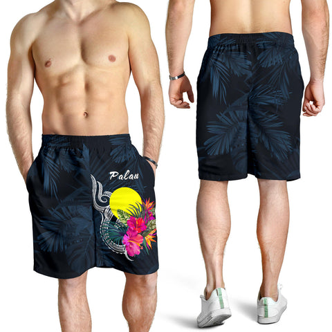 Image of Palau Polynesian Men's Shorts - Tropical Flower