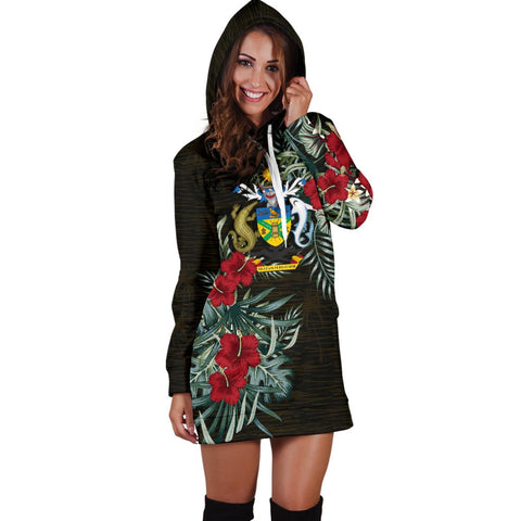 Solomon Islands Hibiscus Hoodie Dress A7
